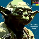 【ポイント2倍☆】Master Yoda マスター ヨーダ インテリアアートパネル [スターウォーズ STARWARS] お洒落にお部屋を彩るウォールアートパネル【映画・キャラクター・スター グッズ・雑貨】