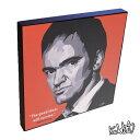 Quentin Tarantino クエンティン・タランティーノ KEETATAT SITTHIKET キータタット・シティケット ポップアート アートパネル アートフレーム 絵 イラスト グラフィック 壁掛け おしゃれ インテリア 映画監督 ハリウッド セレブ 映画