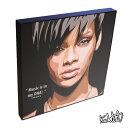 Rihanna リアーナ KEETATAT SITTHIKET キータタット・シティケット ポップアート アートパネル アートフレーム 絵 イラスト グラフィック 壁掛け おしゃれ インテリア 歌手 ポップスター R&B ブラックミュージック スター セレブ 音楽