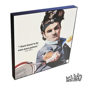 アートパネル Roger Federer ロジャー・フェデラー インテリア プロテニスプレイヤー ウォールアート スポーツ レジェンド スター グッズ おしゃれ イラスト 絵 絵画 ポップアート アートフレーム 雑貨