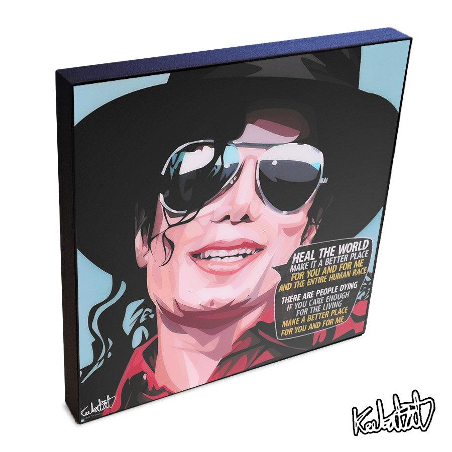 【12/4 20:00-12/11 1:59 ポイント10倍!】Michael Jackson マイケル・ジャクソン KEETATAT SITTHIKET インテリア雑貨 おしゃれ ポップアートフレーム ポップアートパネル 絵 壁掛け 歌手 ポップスター ブラックミュージック 天才 THIS IS IT ディスイズイット