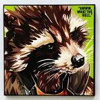 Rocket Racoon ロケットラクーン インテリアグラフィックボード [Marvel マーベル ガーディアンズ・オブ・ザ・ギャラクシー] お洒落にお部屋を彩るウォールアートパネル【映画・キャラクター・スター グッズ・雑貨】