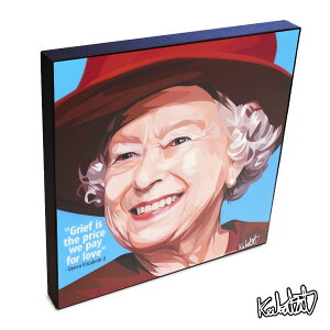 Queen Elizabeth II クイーンエリザベス世 KEETATAT SITTHIKET ポップアートパネル ポップアートフレーム 絵 イラスト グラフィック 壁掛け おしゃれ インテリア セレブ 英国王室 女王 イギリス
