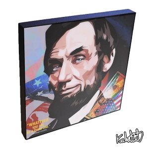 アートパネル Abraham Lincoln2 エイブラハム・リンカーン2 第16代アメリカ合衆国大統領 政治 偉人 イラストレーション セレブ インテリア ウォールアートパネル キャラクター グッズ 雑貨 アートフレーム ポスター