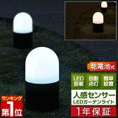 【1年保証】LED センサーライト ガーデンライト センサー ライト 防犯 屋外 外灯 イルミネーション 電池式人感センサー搭載 LEDガーデンライト〈単品〉[送料無料]
