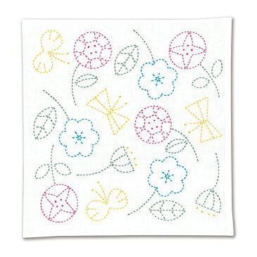【代引料無料】オリムパス 刺し子キット 北欧モチーフの花ふきん フラワー SK-326