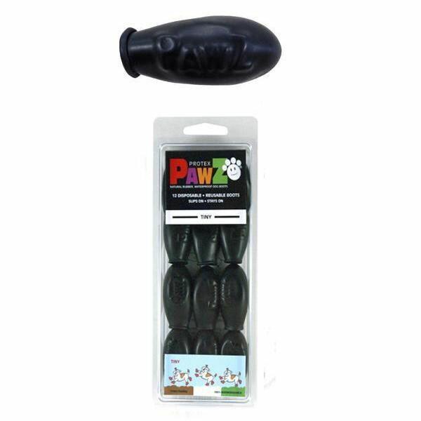 【代引料無料】正規輸入品 アメリカ Pawz Dog Boots社製 ポウズ ラバードッグブーツ ブラック Tiny PZBLKT