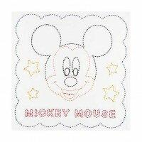 【代引料無料】224 オリムパス 刺し子キット 花ふきん ミッキーマウス