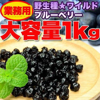 【代引料無料】野生種★ワイルドブルーベリー大容量1kg