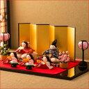 雛人形 ひな人形 ちりめん コンパクト 小さい ミニお雛様 【桜雛 5人揃い】『龍虎堂』【リュウコドウ】