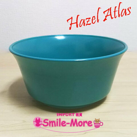 Hazel Atlas ヘーゼルアトラス OVIDE オバイドシリーズ モダントーン・グリーン 緑色 サラダボウル シリアルボウル 取り皿 スープボウル ミルクガラス