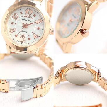 スーパーセール 10%OFF 日本製ムーブメント 日常生活防水 シンプル3針 ホワイトシェル文字盤 小さめメタルベルト腕時計 3気圧防水 AV017 レディース腕時計 送料無料