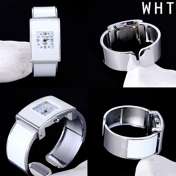 レクランギュラー バングルウォッチ 存在感のあるシンプルデザイン AV034 レディース腕時計 auktn