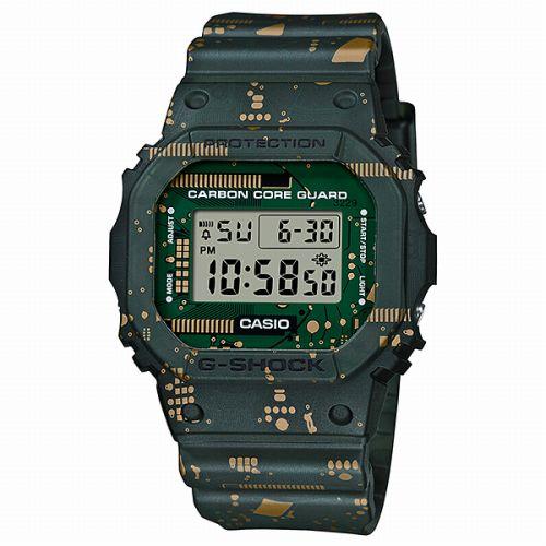 国内正規品  カラーDWE-5600CC-3JRG-SHOCKCASIO腕時計カシオジーショックデジタル表示カレンダー長方形人気
