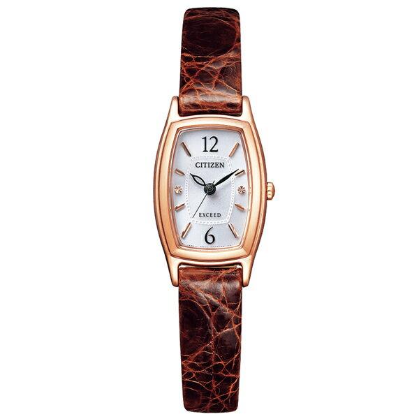 取寄品 正規品CITIZEN EXCEED腕時計 シチズン エクシード EX2002-03A エコドライブ ワニ革バンド レディースウォッチ auktn