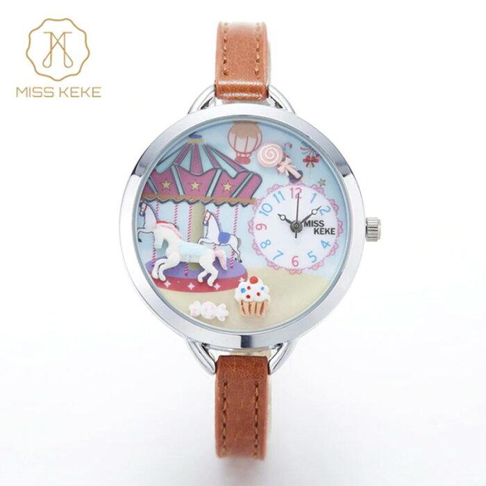 腕時計 レディース Miss Keke レディース腕時計 ケケ KK0910 メリーゴーランド 遊園地 ファンシー かわいい ファッションウォッチ