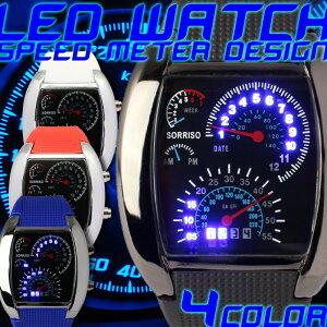 ソリッソ スピード メーター デジタル タコメーター デイデイト トリプル カレンダー デジタルウォッチ