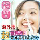 【海外専用】1.6MHz超音波 電動歯ブラシ スマイルエックスAU-300D(MH:フラット毛、ST:先細毛、HD:ダイヤカット毛から2パック選択) 【送料無料】【楽ギフ_包装】
