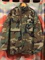 【送料無料】【あす楽】【中古】US古着1991年製実物米軍M-65ジャケットウッドランドカモsizeS-Rミリタリー