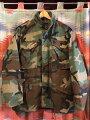 【送料無料】【あす楽】【中古】US古着1991年製実物米軍M-65ジャケットウッドランドカモsizeS-Sミリタリー