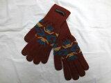 【送料無料】【あす楽】【新品】PENDLETONペンドルトンウールネイティブ柄グローブ手袋ブラウンL/XL