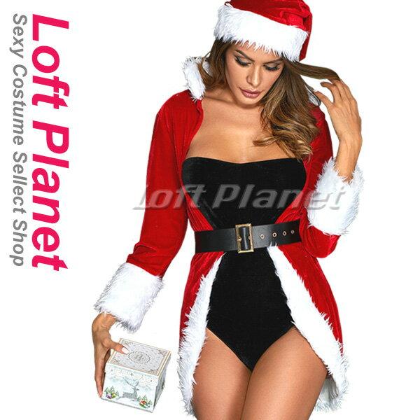 d1f9ce8178199 クイーンのサンタ衣装 クリスマスのセクシードレス ガウンとボディスーツのコスプレ4点