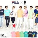 【期間限定送料無料】BTS FILA フィラ BTS コラボ tシャツ メンズ ブランド半袖Tシャツ