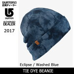 2017BURTONバートンビーニーTIEDYEBEANIEEclipse/WashedBlue17114400455【スノー雑貨】