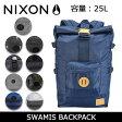 【スマホエントリーでP10倍!2/18 10時〜】ニクソン リュック NIXON バックパック SWAMIS NC2187 16年モデル