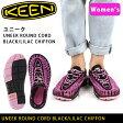 【楽天最安挑戦】キーン KEEN サンダル ユニーク ロック UNEEK 8mm ROCK Black/Lilac Chiffon/1014637/レディース