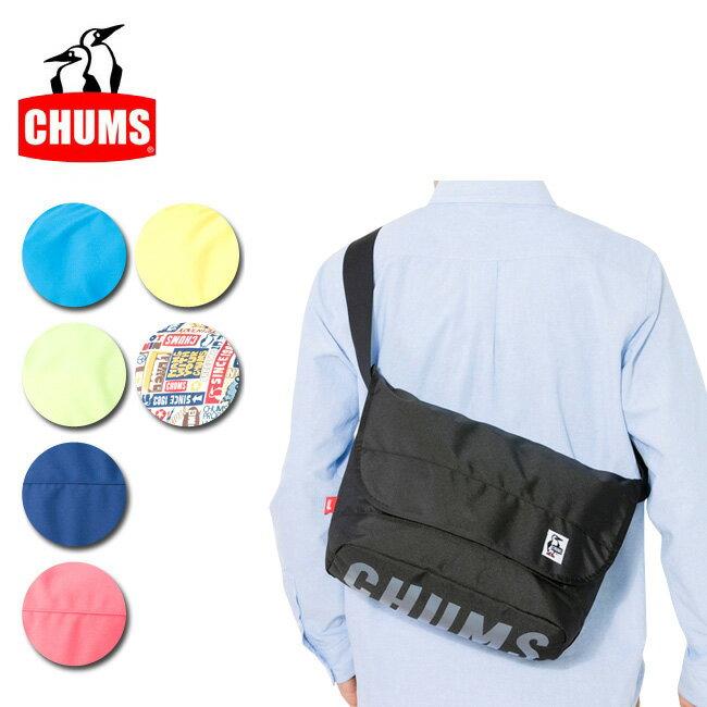 チャムス エコ ロゴ メッセンジャーバッグ