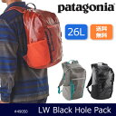パタゴニア Patagonia バックパック LW Black Hole Pack 26L ライトウェイト・ブラックホール・パック 26L 49050 【カバン】通勤 通学 日本正規品