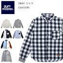 ジムマスターgymmaster2WAYシャツG643390【服】シャツカジュアルシャツファッションおしゃれ