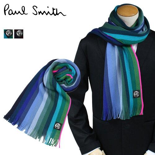 ポールスミス マフラー メンズ Paul Smith リバーシブル ウール ドイツ製 ビジネス カジュアル [11/2 新入荷]