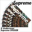 シュプリーム ステッカー Supreme シール X UNDERCOVER メンズ レディース [1/17 新入荷]