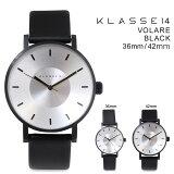 クラス14メンズKLASSE1442mm36mmレディース腕時計VOLAREBLACKヴォラーレVO14BK001MVO14BK001W
