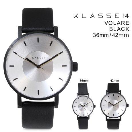 KLASSE14 36mm 42mm メンズ レディース 腕時計 クラス14 VOLARE BLACK ヴォラーレ VO14BK001M VO14BK001W