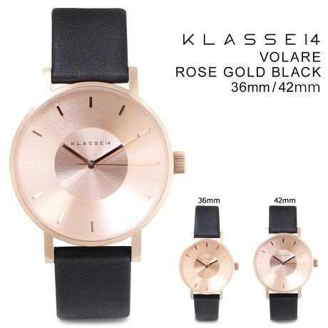 KLASSE14 36mm 42mm メンズ レディース 腕時計 クラス14 VOLARE ROSE GOLD BLACK ヴォラーレ VO14RG001M VO14RG001W