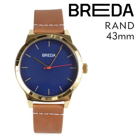 ブレダ BREDA 腕時計 43mm メンズ 時計 ランド RAND 8184C ゴールド/ブラウン
