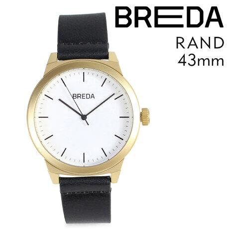ブレダ BREDA 腕時計 43mm メンズ 時計 ランド RAND 8184K ゴールド/ブラック