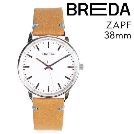 ブレダ BREDA 腕時計 38mm メンズ 時計 ツアップ ZAPF 1697C シルバー/ライトブラウン