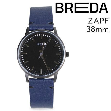 ブレダ BREDA 腕時計 38mm メンズ 時計 ツアップ ZAPF 1697G ガンメタル/ネイビー