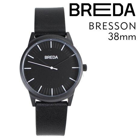 ブレダ BREDA 腕時計 38mm メンズ 時計 ブレッソン BRESSON 5020C ブラック/ブラック