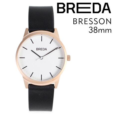 ブレダ BREDA 腕時計 38mm メンズ 時計 ブレッソン BRESSON 5020E ローズゴールド/ブラック