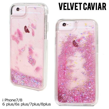 Velvet Caviar ヴェルヴェット キャビア iPhone8 7 Plus 6s 6 ケース スマホ iPhoneケース グリッター アイフォン アイフォーン ベルベット PINK HOLOGRAPHIC GLITTER IPHONE CASE レディース クリア ピンク
