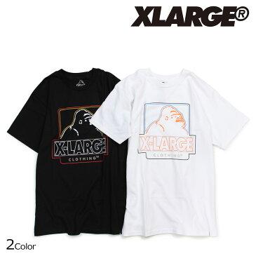 エクストララージ XLARGE Tシャツ メンズ 半袖 トップス クルーネック CENTRAL SS TEE 2カラー