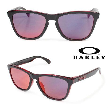 オークリー サングラス アジアンフィット Oakley Frogskins フロッグスキン ASIA FIT OO9245-46 ブラック メンズ レディース [2/28 再入荷]