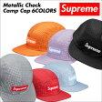 [最大2000円OFFクーポン] シュプリーム キャップ Supreme キャンプキャップ ジェットキャップ 帽子 METALLIC CHECK CAMP CAP メンズ レディース [6/20 新入荷]