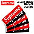 [スマホエントリーでポイント最大19倍] シュプリーム Supreme ステッカー ボックスロゴ VELVET LOGO STICKER シール ベルベット レッド ブラック