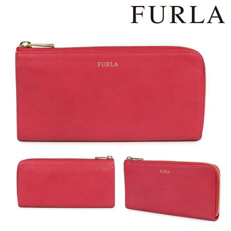 フルラ FURLA 財布 長財布 ラウンドファスナー レディース レザー レッド CLASSIC 860822